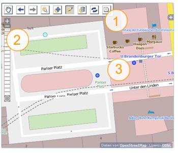 Grafik zur Editieroberfläche von map-my-project